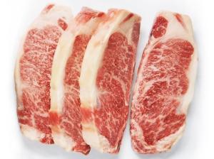 Lone Mountain Wagyu Strip Steaks, Raw